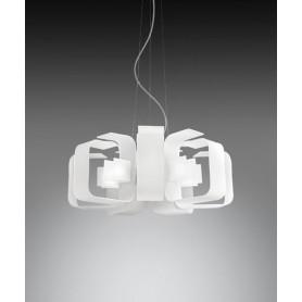 ANTEALUCE Hook 6451.55 Lampadario Moderno Vetro Acidato
