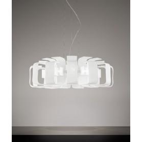 ANTEALUCE Hook 6451.72 Lampadario Moderno Vetro Acidato