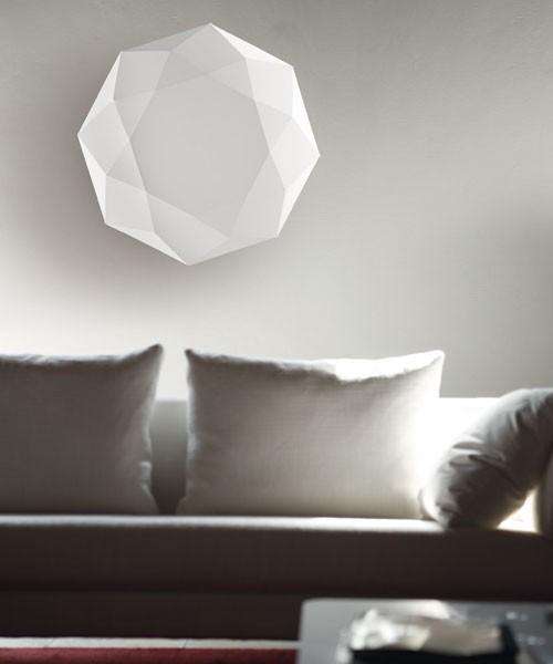Morosini Diamond PP60 Lampada Parete/Soffitto Tessuto Bianco