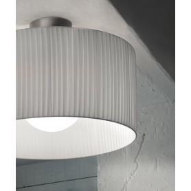 Morosini Fog PL70 Plissè Lampada Soffitto Tessuto Pongè 4 Colori