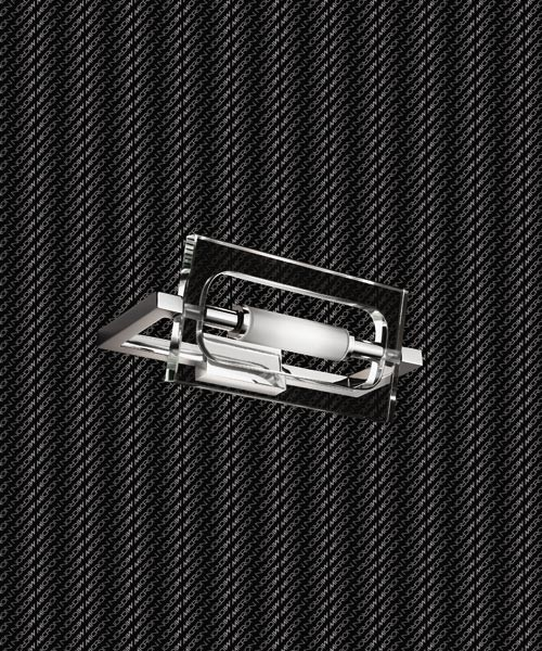Micron Flat Crystal M2249 Applique 1 Luce Cromo