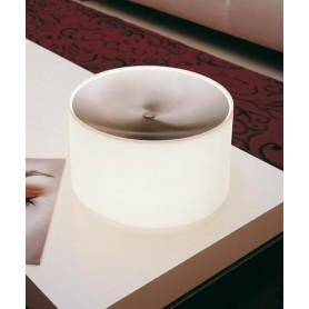 Morosini Round TA Lampada Tavolo Cromo/Vetro Soffiato 2 Colori