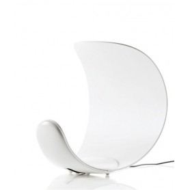 Luceplan Curl LED - Versione Bianca - Lampada Tavolo con Dimmer