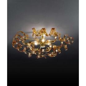 Metal Lux Astro 205.340 Oro Plafoniera 12 Vetri 14 Colori