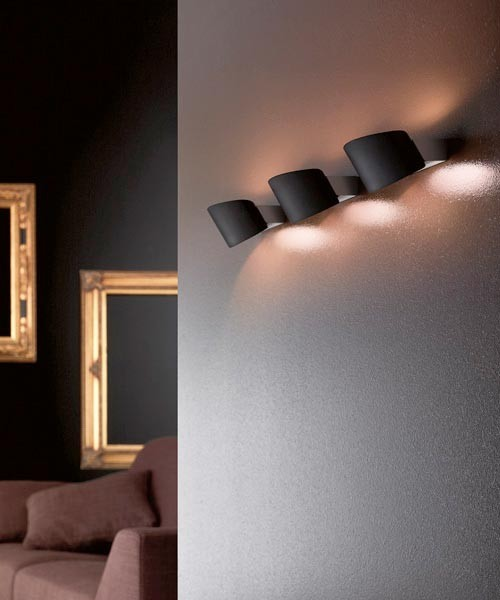 LEUCOS Link Micro P Lampada Parete Vetro Soffiato 3 Colori
