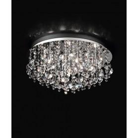 PERENZ 5842 Plafoniera con cristalli 7 Luci