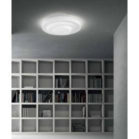 LEUCOS Loop Line Lampada Soffitto Vetro Soffiato LED