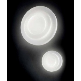 LEUCOS Loop Line 32 Lampada Parete/Soffitto Vetro Soffiato LED