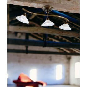 Il Fanale Country 081.21 Lampada Rustica Soffitto 3 Luci