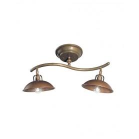 Il Fanale Il Barco 207.22 Lampada Rustica Soffitto 2 Luci