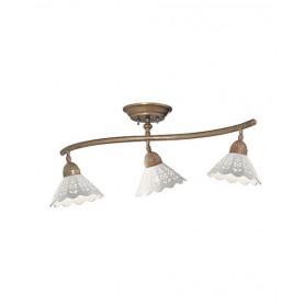 Il Fanale Fiori di Pizzo 065.21 Lampada Rustica Soffitto 3 Luci