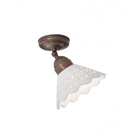 Il Fanale Fiori di Pizzo 065.23 Lampada Rustica Soffitto 1 Luce