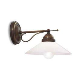 Il Fanale Tabia' 212.14 Lampada Rustica Parete 1 Luce