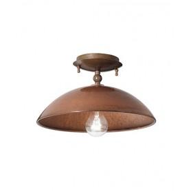 Il Fanale Portico 221.03 Lampada Soffitto 1 Luce 2 Colori