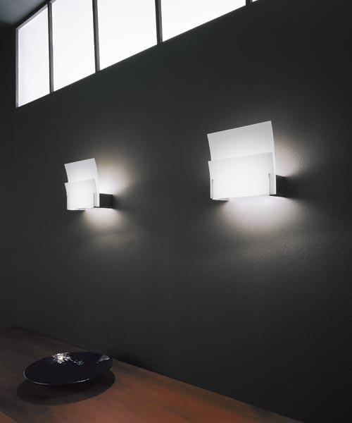 Axo Light Balios Lampada Parete Vetro Bianco