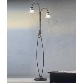 Ferroluce Ferrara C195/2 TE Lampada Terra Rustica 2 Luci