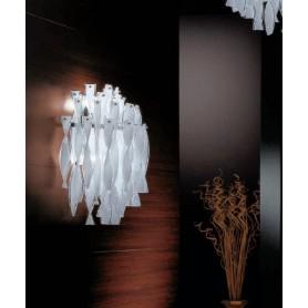 Axo Light Aura Applique Vetro di Murano Acciaio Lucido 6 Colori