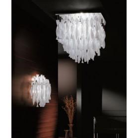 Axo Light Aura Applique Vetro di Murano Foglia Oro 6 Colori