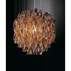 Axo Light Aura PL45 Plafoniera Vetro di Murano Foglia Oro