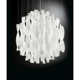 Axo Light Aura PL45 Plafoniera Vetro di Murano Acciaio Lucido
