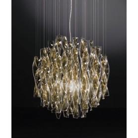 Axo Light Aura SP45 Lampadario Vetro di Murano Foglia Oro
