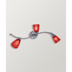Toplight Feeling Net 1011/F3 Lampada Parete 4 Colori