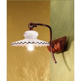 Ferroluce Roma C427 AP Lampada Parete Rustica in Ceramica
