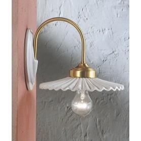 Ferroluce L'Aquila C012 AP Lampada Rustica Parete Ceramica