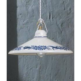 Ferroluce Asti C054 SO Lampadario Rustico in Ceramica 1 Luce