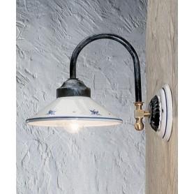 Ferroluce Asti C156 AP Lampada Parete Rustica in Ceramica