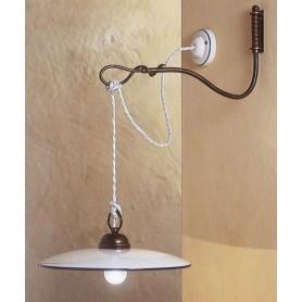 Ferroluce Torino C662 AP Lampada Parete Rustica Ceramica