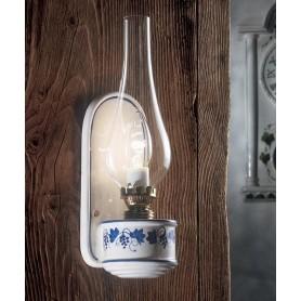 Ferroluce Pompei C146 AP Lampada Parete Rustica 1 Luce