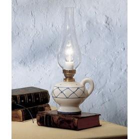 Ferroluce Pompei C160 LU Lampada Tavolo Rustica 1 Luce