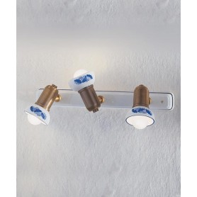 Ferroluce Savona C183 AP Lampada Parete in Ceramica 3 Luci