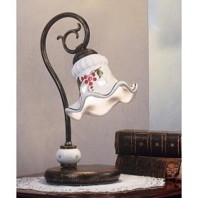 Ferroluce Chieti C170 LU Lampada Tavolo Rustica Ceramica 1 Luce