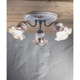 Ferroluce Chieti C171 PL Lampada Soffitto Ceramica 3 Luci