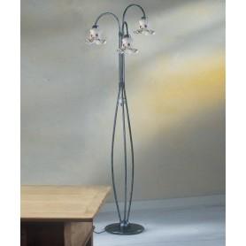 Ferroluce Chieti C174/3 TE Lampada Terra Ceramica 3 Luci