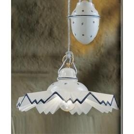 Ferroluce Cortina C243 SO Saliscendi Lampadario Ceramica 1 Luce