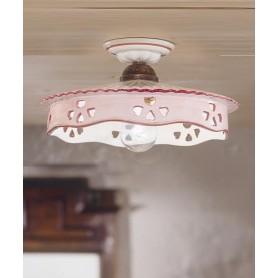 Ferroluce Alessandria C536 PL Lampada Soffitto Ceramica 1 Luce