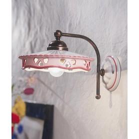 Ferroluce Alessandria C538 AP Lampada Parete Ceramica 1 Luce