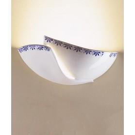 Ferroluce Rimini C600 AP Lampada Parete Rustica Ceramica 1 Luce