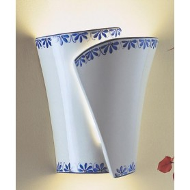 Ferroluce Rimini C601 AP Lampada Parete Rustica Ceramica 1 Luce