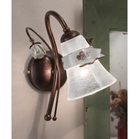 Ferroluce Venezia C1001 AP SX Lampada Parete in Ceramica 1 Luce