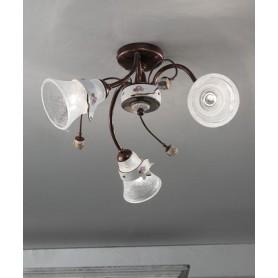 Ferroluce Venezia C1006 PL Lampada Soffitto Ceramica 3 Luci
