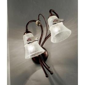 Ferroluce Venezia C1009 AP Lampada Parete Ceramica 2 Luci