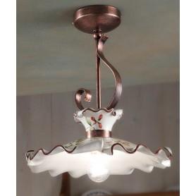 Ferroluce Milano C1104 PL Lampada Soffitto in Ceramica 1 Luce