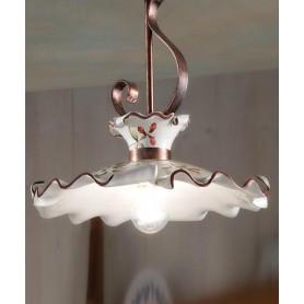Ferroluce Milano C1105 PL Lampada Soffitto in Ceramica 1 Luce