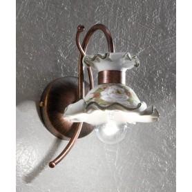 Ferroluce Milano C1116 AP SX Lampada Parete in Ceramica 1 Luce