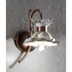 Ferroluce Milano C1116 AP DX Lampada Parete in Ceramica 1 Luce