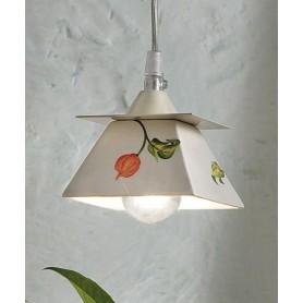 Ferroluce Prato C1130 SO Lampadario Rustico in Ceramica 1 Luce